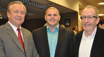 Walt Coleman (from left), Chris McDonald and Will Schultheis.