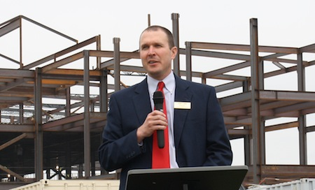 Conway High School Principal Joel Linn discusses construction of the new high school.