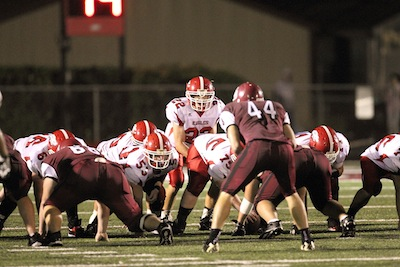 Gann (44) anchors the middle of the Beebe defense. (Bill Patterson photo)