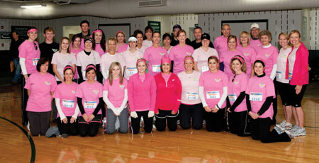 Walkers/ runners who participated in the half- marathon in memory of Whittany Atkinson.