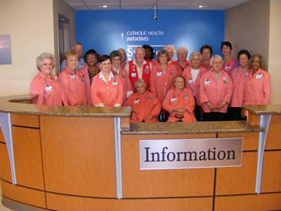 The St. Vincent Morrilton Auxiliary contributed $25,000 to the renovation of the lobby and gift shop at the hospital.