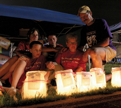 Relay For Life offers a time for participants and the community to pause, reflect and remember about those who have lost their fight with cancer or honor a cancer survivor or caregiver during the night's luminaria ceremony.