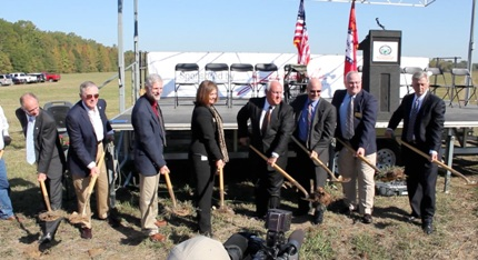 Groundbreaking held for shooting range and clubhouse scheduled for completion in the spring.