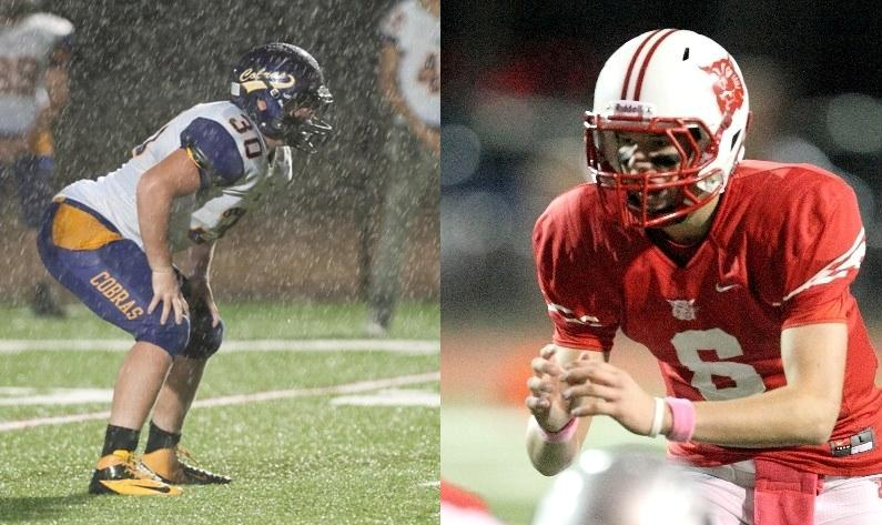 Two 501 Football Team honorees — Fountain Lake's Mackenzie Ross (left) and Harding Academy's Will Francis (right) — will battle each other Friday for a trip to the 3A finals.