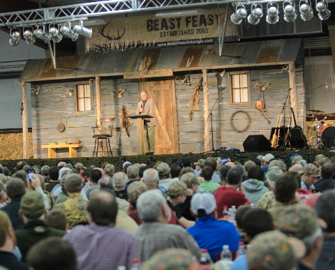 Former national football champion coach Bobby Bowden was the featured speaker at last year's Beast Feast. (Matt McClellan photo)
