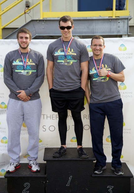 Winners in the third annual K-C to 5K Run of the Mill were first place, Brad Silfies; second, Alan David; and third, Alex Riviera.