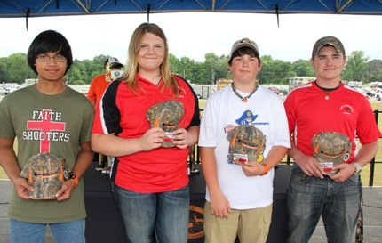 East Senior Perfect Score Players: Zach Hensley of Cabot, Hallie Hankins of Cabot, Reece Thaxton of Gosnell and Chase Myers of Cabot.