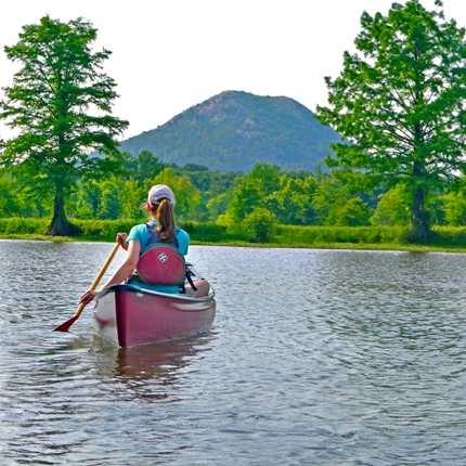 A variety of waterways are available for paddling in the state, including the Little Maumelle Water Trail (pictured) in Central Arkansas. (Photo courtesy of the Arkansas Department of Parks and Tourism)