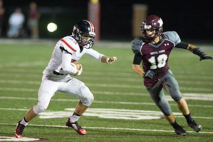 Senior receiver Michael Parsley. (Todd Owens photo)