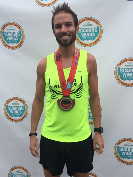 Nate Billings of Tulsa was the winner of the inaugural Soaring Wings of Conway Marathon.
