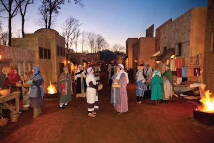 Nearly 300 church members, exotic animals, handmade costumes and crafts set the scene for the Nativity.