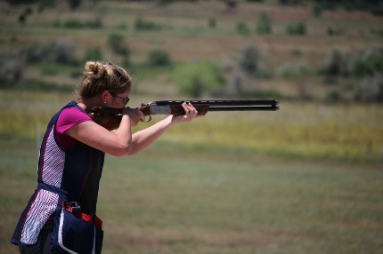 Emily Underwood competes in the National Junior Olympic Shooting Championships. (Photo courtesy of John Thompson)
