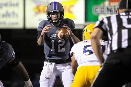 Junior quarterback Hayden Hildebrand leads the way at quarterback for the UCA Bears.