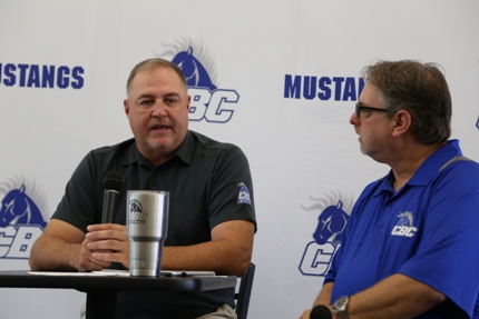 CBC Athletic Director Lyle Middleton (left) and Y107's JR Runyon.