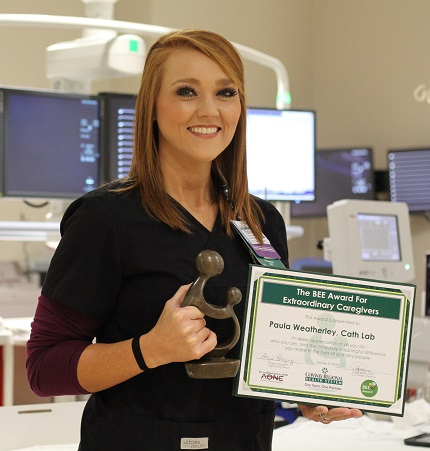 Paula Weatherley of Enola, an imaging tech and supervisor of the Cardiac Cath Lab, , is one of the latest DAISY and BEE awards for exemplary clinical service at Conway Regional Health System.