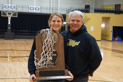 Rieley has experienced success on the basketball court right alongside her father and coach, Tim Hooten.